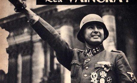 2 avril 1944 : Défilé de la Légion Wallonie à Bruxelles après Tcherkassy