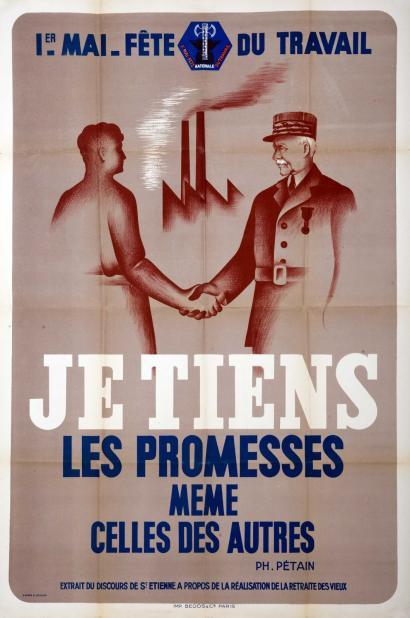 1er mai 1941 –  « Fête du Travail et de la Concorde sociale » instaurée par le maréchal Pétain