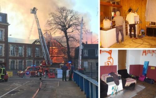Un bâtiment occupé par des envahisseurs incendié à Caen