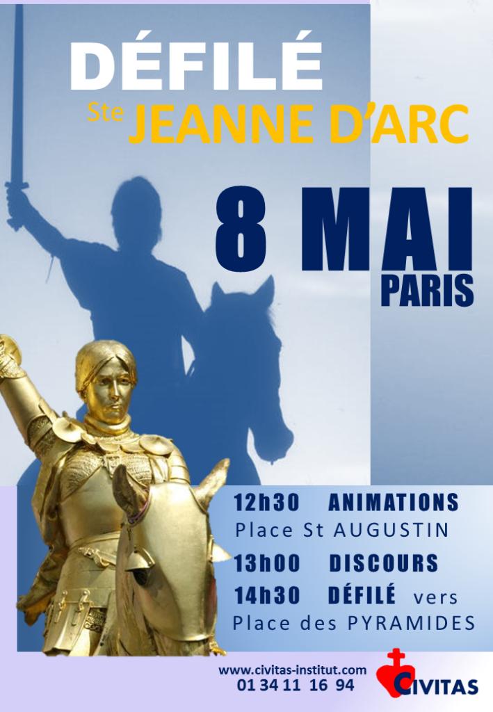 Défilé de Civitas pour Sainte Jeanne d'Arc