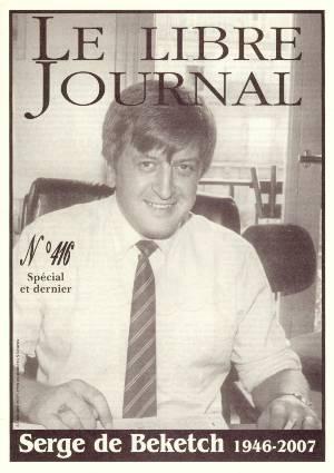 21 avril 1993 : 1er numéro de la revue «Le Libre Journal de la France courtoise»