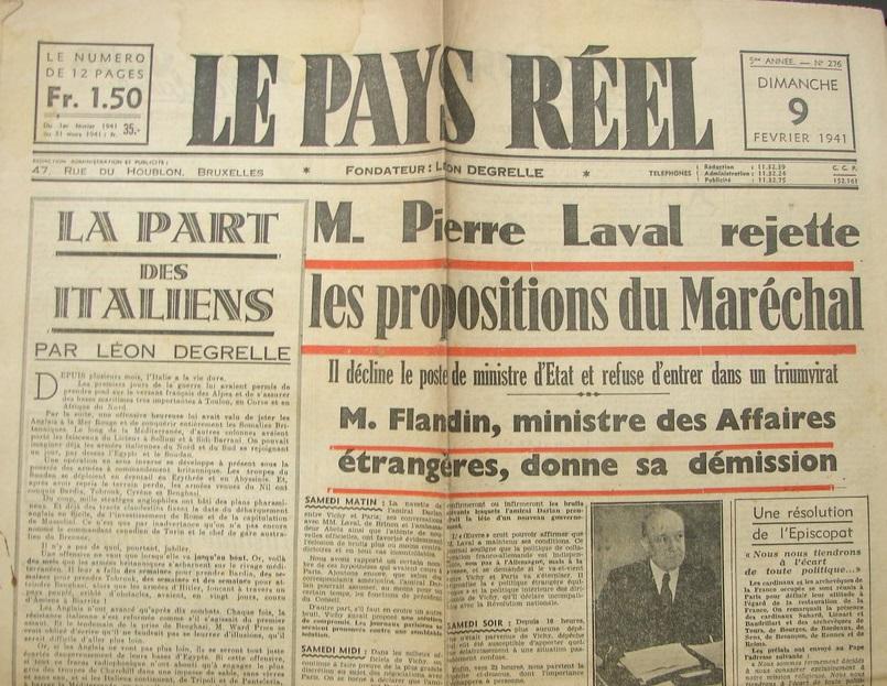 3 mai 1936 : 1er numéro du Pays Réel