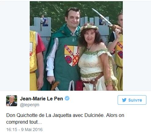 Jean-Marie Le Pen et « Don Quichotte de La Jaquetta »