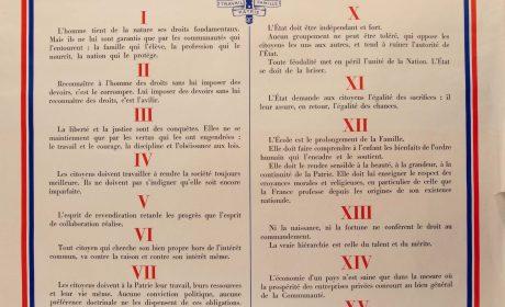 Nouveauté : Les principes de la Communauté du maréchal Pétain – Édition de luxe