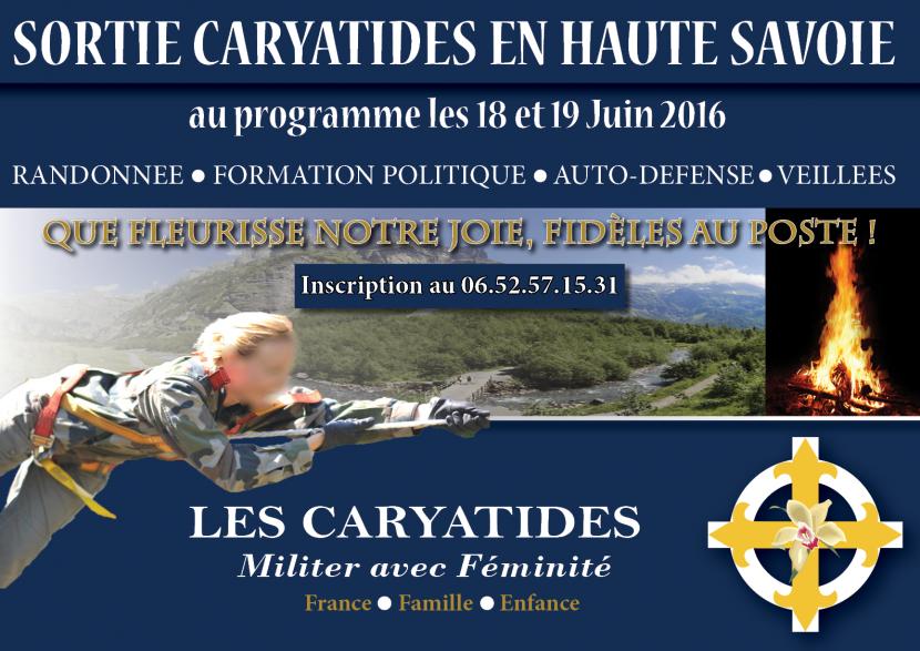 Haute-Savoie : Sortie cohésion des Caryatides