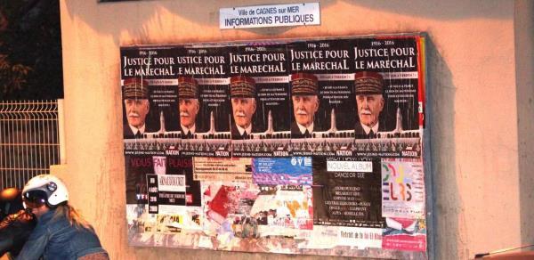 Justice pour le Maréchal Pétain à Cagnes