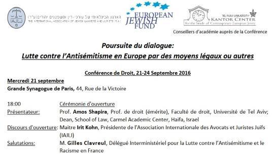 DILCRA : Gilles Clavreul va chercher les consignes du judaïsme politique