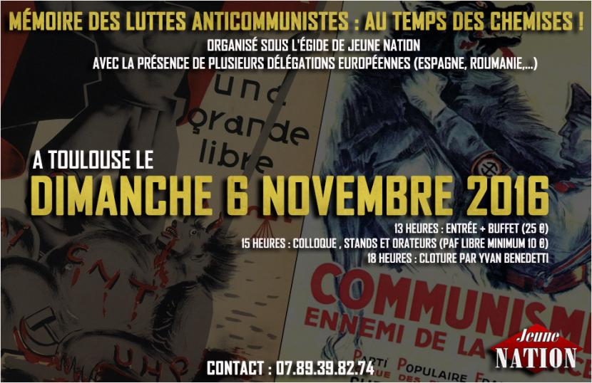 « Mémoire des luttes anticommunistes : au temps des chemises ! »