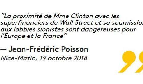 « Lobbies sionistes » : Jean Frédéric Poisson s'aplatit devant le judaïsme politique