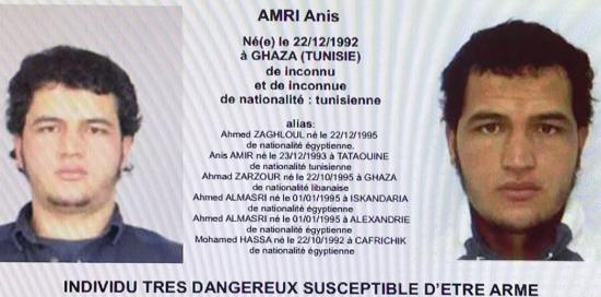 Allemagne : l'auteur de l'attentat de Berlin est un envahisseur tunisien déjà connu