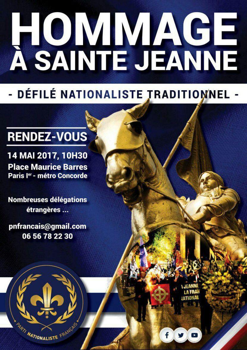 Paris : Hommage nationaliste à Jeanne d'Arc