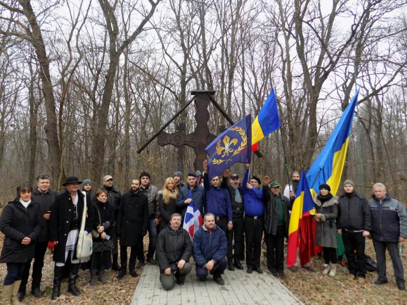 Délégation PNF et Jeune Nation aux commémorations de Corneliu Codreanu