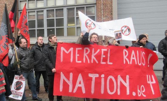 Belgique : manifestation anti-Merkel à Bruxelles par le mouvement Nation (vidéo)