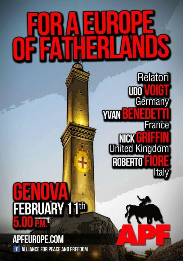 Gênes (Italie) : Conférence de l'APF