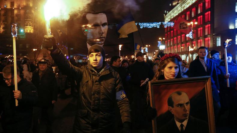 Kiev : les nationalistes commémorent l'anniversaire de Stepan Bandera