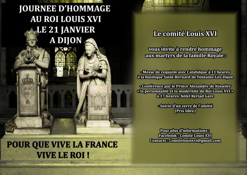 Dijon : Journée d'hommage au Roi Louis XVI