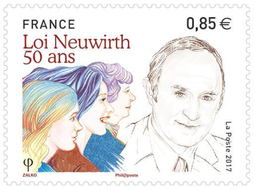 La Poste édite un timbre commémoratif de la loi Neuwirth