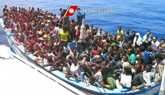 Italie : invasion record, 2300 envahisseurs en 2 jours, + 55 % par rapport à 2016