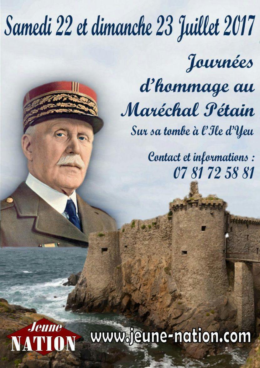 Hommage au maréchal Pétain – 22 et 23 juillet 2017 – Ile d'Yeu