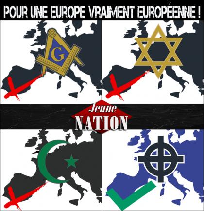 L'Algérie aux Algériens. L'Afrique aux Africains. Européen maître chez toi!