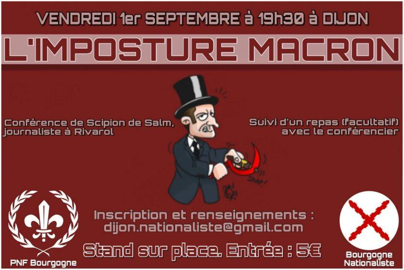 Dijon : Conférence sur l'imposture Macron