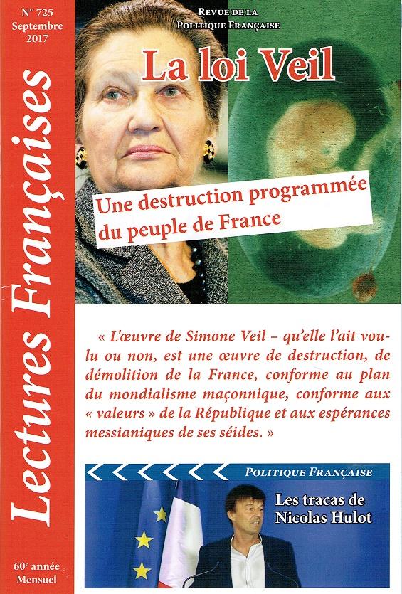 Lectures Françaises N° 725 de septembre 2017