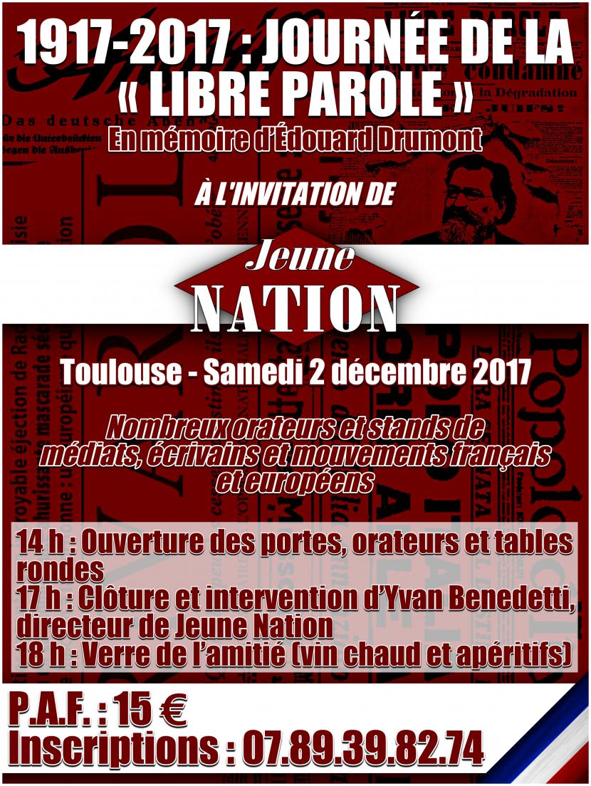 Journée de la Libre Parole – Toulouse – 2 décembre 2017
