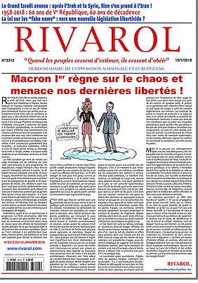 Macron Ier règne sur le chaos et menace nos dernières libertés !