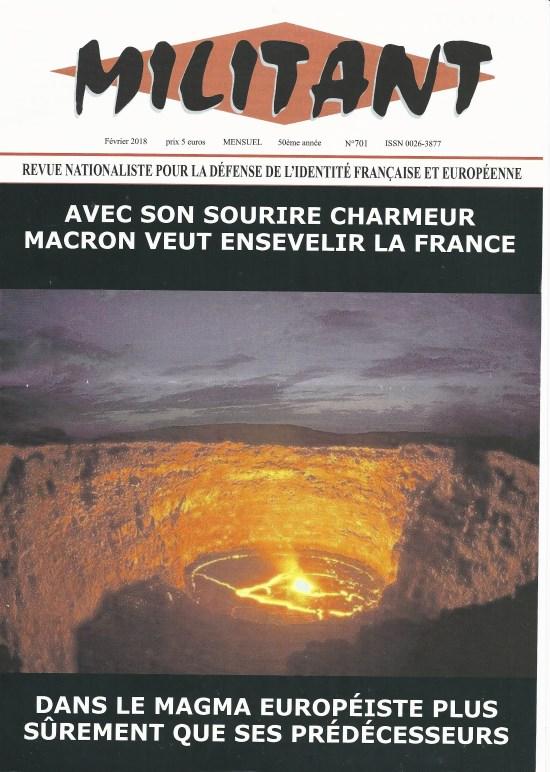Militant N° 701 – Macron ou la défaisance de la France et de l'Europe