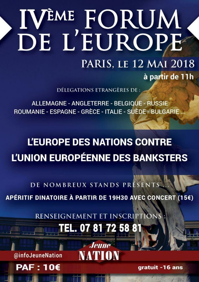 IVe Forum de l'Europe – 12 mai 2018 – Paris