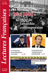 Nouveauté : Lectures Françaises – N° 733 – Mai 2018