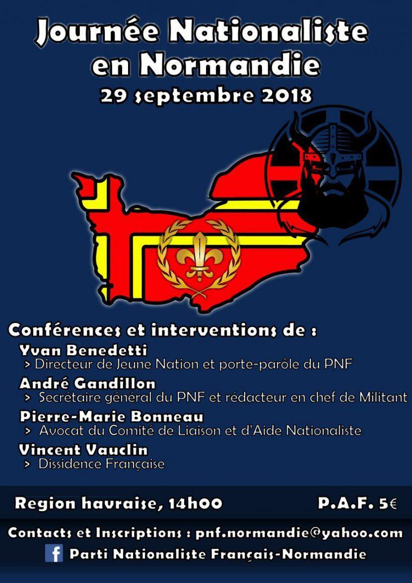Journée de rencontre nationaliste en Normandie – 29 septembre 2018