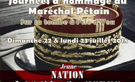 Hommage au maréchal Pétain – 22 et 23 juillet 2018 – Ile d'Yeu