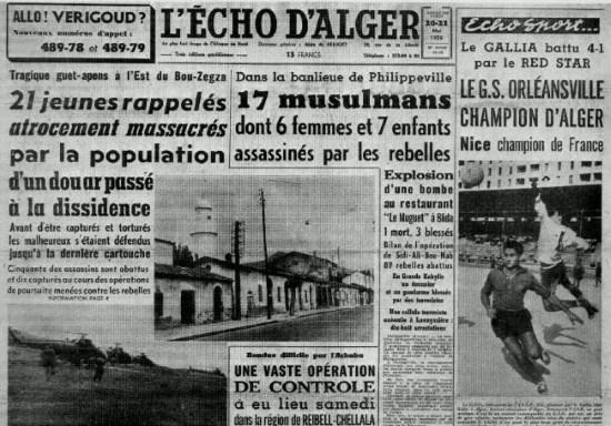18 mai 1956 : Embuscade de Palestro, massacre des innocents par les terroristes du FLN