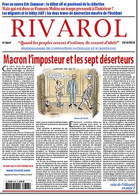Macron l'imposteur et les sept déserteurs