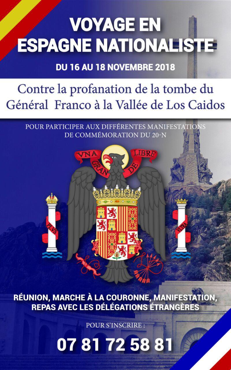 Madrid : du 16 au 18 novembre 2018, voyage en Espagne nationaliste