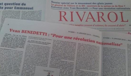 Yvan Benedetti: «Pour une révolution nationaliste!»