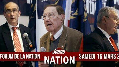Premières images du XXIe Forum de la Nation de Lyon du 16 mars 2019 (vidéo)