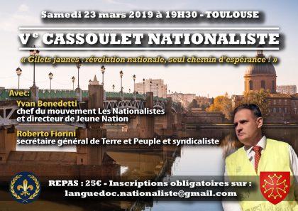 Ve «Cassoulet nationaliste» – Toulouse – 23 mars 2019