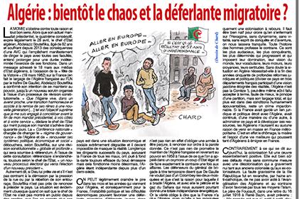 Algérie: bientôt le chaos et la déferlante migratoire?