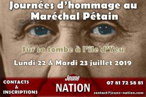 Hommage nationaliste à Philippe Pétain - 22 et 23 juillet 2019 - Île d'Yeu