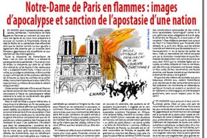 Notre-Dame de Paris en flammes: images d'apocalypse et sanction de l'apostasie d'une nation