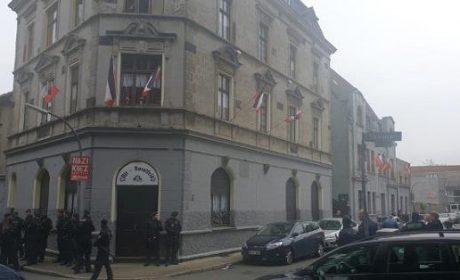 Descente de police au siège du parti nationaliste «Die Rechte» à Dortmund