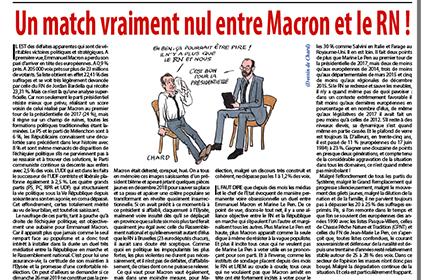 Un match vraiment nul entre Macron et le RN!