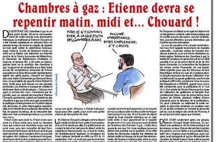 Chambres à gaz: Etienne devra se repentir matin, midi et… Chouard!