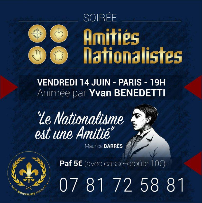 Soirée d'amitiés nationalistes – Paris – 14 juin 2019