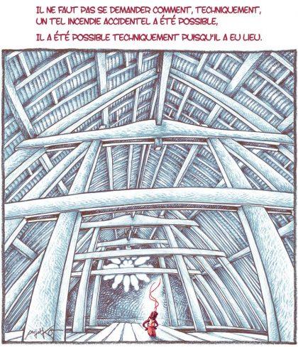 Incendie de Notre-Dame : un accident, qu'on vous dit ! – Un bon dessin… par ProjetKO