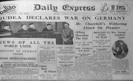 24 mars 1933 : La « déclaration de guerre » des Juifs à l'Allemagne