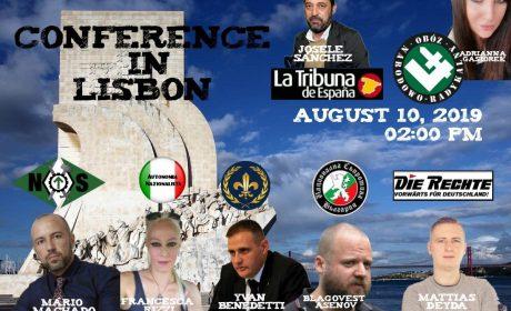 Conférence nationaliste à Lisbonne – Nouvel Ordre Social – 10 août 2019