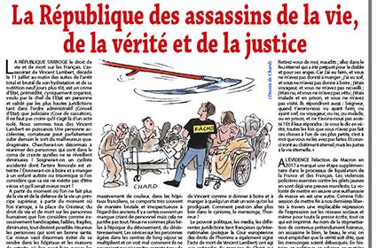 La République des assassins de la vie, de la vérité et de la justice